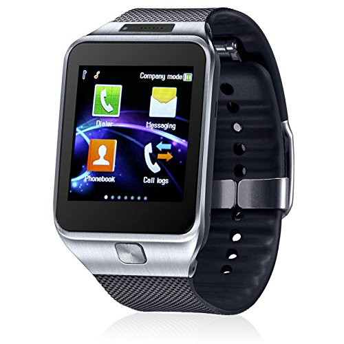 inDigi iOS or Android SmartWatch + Phone w/Optional SIM Slot + Notifcations & Camera (Compatible w/Bluetooth)