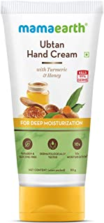 Mamaearth Ubtan Hand Cream with Turmeric and Honey for Deep Moisturization – 50 g