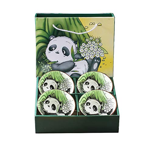 Set di 4 ciotole per cereali stile panda in porcellana, insalatiera, portafrutta, ciotola per cereali, ciotola per dolci, ciotola per snack, ciotola cinese,ciotola giapponese