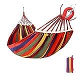 ZSP Hamac Hamac de Toile Portable voyageant de Pique-Nique en Bois de Pique-Nique en Bois Chaise de Camping Suspendu lit de Jardin Meubles de Jardin avec Sac à Dos Se Balancer (Color : Red(1 Type))