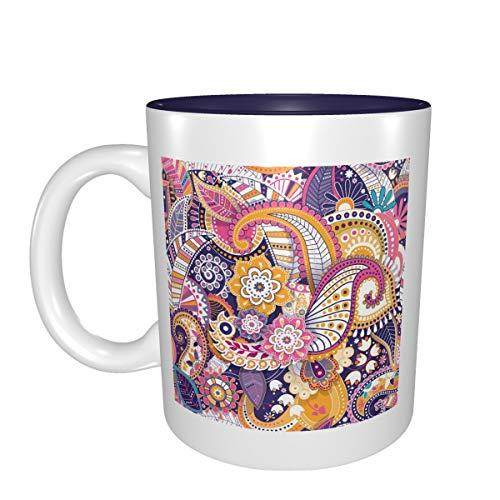 Patrón oriental de cachemira, la mejor idea, regalo de cumpleaños para tazas de porcelana