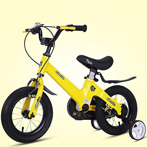 UOGOU kinderfiets met hulpfiets aluminium fiets roze/rood/geel/goud kinderfiets outdoor mountainbike