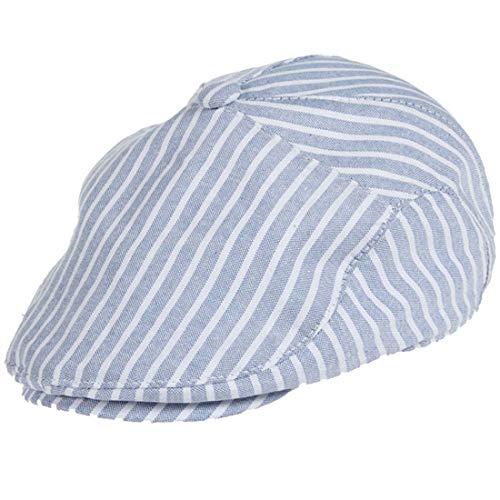 Belsen Kinder Gatsby Streifen Mütze Baskenmütze Baby Kids Kapppe Hüte (blau)