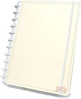 Caderno Grande Tons Pastéis Amarelo com 80 Folhas Caderno Inteligente