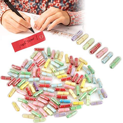 01 Love Capsule Pills Notes, Papel Love Letters 100 Piezas Exquisito romántico multipropósito para cumpleaños para el día de la Madre para el día de San Valentín