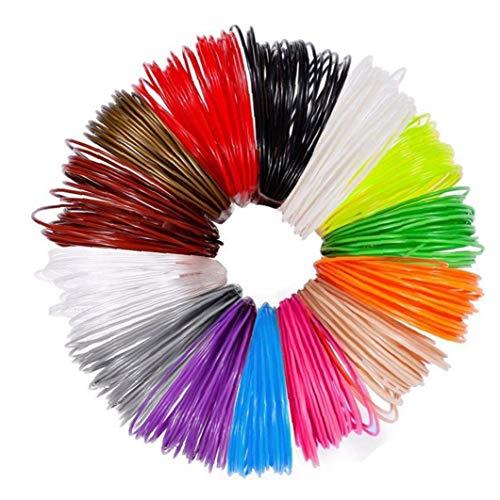 EElabper 3d Pen Refills High Temperature 1.75mm Pla 3d Printer Filament Refills 12pcs
