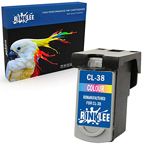 RINKLEE Remanufacturado para Canon CL-38 CL38 Cartucho de Tinta Compatible con Canon Pixma Pixma MP210 MP220 MX310 MX300 MP140 MP190 MP470 iP1800 iP1900 iP2500 iP2600 | Tricolor