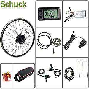 Electric Bikes Schuck E-bike kit 48V 500W 20″/24″/26″/27.5″/28″/29″/700C Front Motor Wheel Electric Bicycle Conversion Motor Kit E-Bike Cycling with KT-LCD7 Display