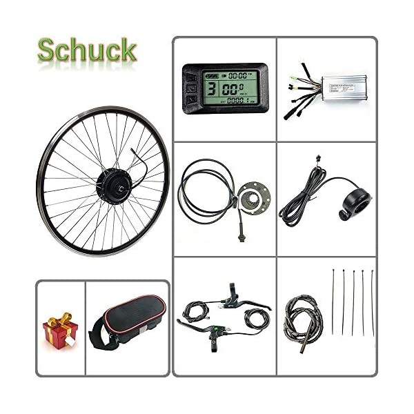 Electric Bikes Schuck E-bike kit 48V 500W 20″/24″/26″/27.5″/28″/29″/700C Front Motor Wheel Electric Bicycle Conversion Motor Kit E-Bike Cycling with KT-LCD7 Display [tag]