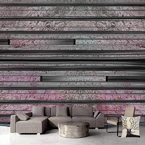 3D vliesbehang fotovlies premium fotobehang groot behang wandschilderij retro- houten tv-woonkamer 3D 200*140cm #001