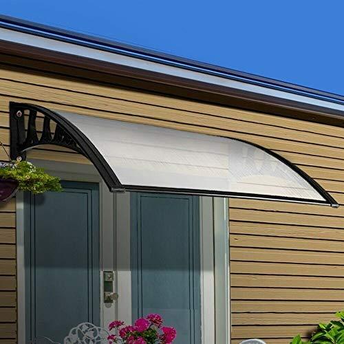 Aire Libre Dosel de Techo 100cm Profundidad Claro puerta de la ventana Toldo Toldo con aleación de aluminio de soporte - la lluvia de Sun refugio contra los rayos UV del jardín de la cubierta al aire