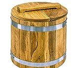 Pickle Barrel, Oak Cask, 5-70 Litres Wooden Vat for Pickles with a Lid, Rustic Wooden Cask, Farmhouse Storage