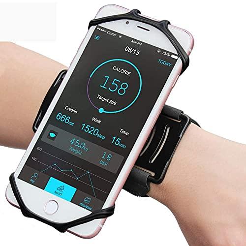 APROTII Brazalete deportivo giratorio de 180 grados, universal para deportes al aire libre, compatible con todos los teléfonos inteligentes, gimnasio, correr, teléfono, correa de brazo