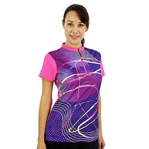 SAVALINO Women's Bowling Shirts, Professional Bowling Jerseys, Ladies Tops S-3XL