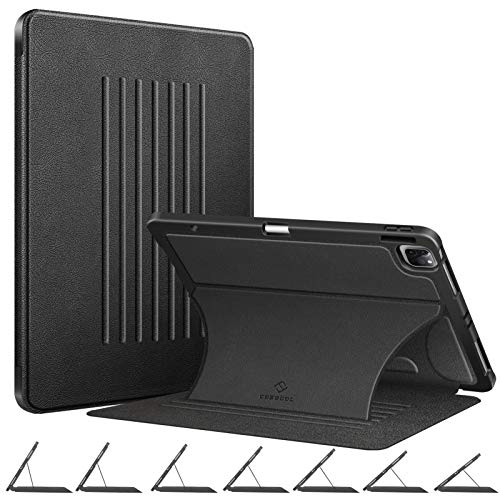 """Fintie Magnetic Stand Case for iPad Pro 12.9-inch 5th Generation 2021 - [7 Viewing Angles] Shockproof Rugged Protective Cover w/Pencil Holder, Also Fit iPad Pro 12.9"""" 4th 3rd Gen, Black"""