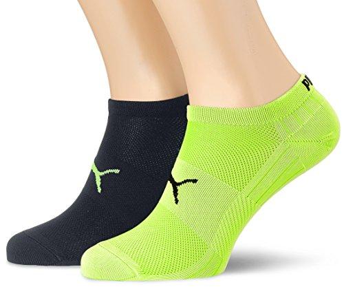 PUMA Herren Performance Train Light Sneaker 2P Socken, Black/Grey/Yellow, 43-46 (2er Pack)