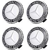 LODYPERO 4PCS Car Wheel Center Radkappen Dekorationszubehör (Passend Für Mercedes Benz, Schwarz)