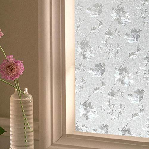 Lámina decorativa estática de cristal para baño, inodoro, transparente, opaca, para ventana, de PVC, 120 cm de ancho/metro