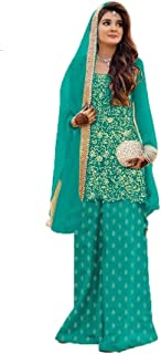 Fancy Lifestyle Semi stitched Sharara dress for women/Girls