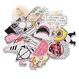 EKKONG Pegatinas, 46 Pack Kit de Pegatinas, Pegatinas Decorativas Stickers para Coche, Infantiles, Portátiles, Moto, Funda de Viaje (46pcs)