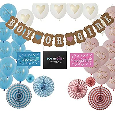 Kiwayo Gender Reveal Party Supplies Decorations...