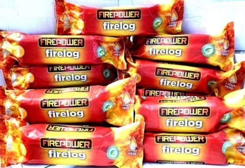 Furniture 321 Firepower Instant Light Fire Logs Case of 15 Logs Burns for Around 2 Hours