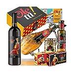 Cesta Lote Surtido Paletilla Ibérica premium y deliciosos productos Gourmet Ole tú. Regalos productos Gourmet 100% Sabor España.
