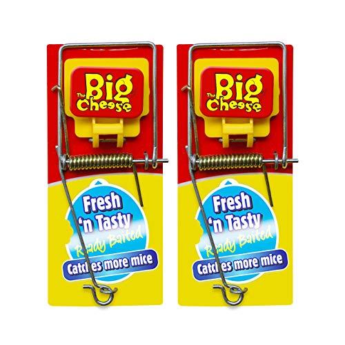 The Big Cheese Lot de 2 pièges à Souris avec appât, réutilisable, Rouge, 40,8 g