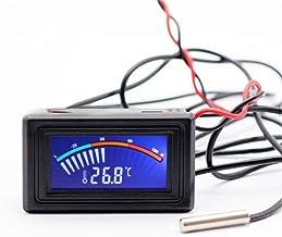 Termómetro digital de la temperatura del tablero de instrumentos del metro del calibrador del indicador digital de doble pantalla para refrigerador acuario Frigorífico Pecera