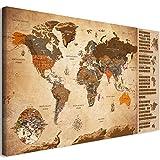 murando Rubbelweltkarte englisch Pinnwand 90x45 cm Vintage Weltneuheit: Weltkarte zum Rubbeln Laminiert Rubbelkarte mit Fahnen/Nationalflaggen Inkl. 50 Markierfähnchen/Pinnnadeln...