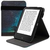 kwmobile Hülle kompatibel mit Tolino Shine 2 HD - Schlaufe Ständer - e-Reader Schutzhülle - Galaxie Baum Wiese Blau Grau Schwarz