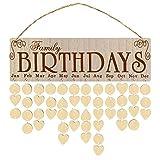 Tissting Calendario de 3 Piezas Lista de Calendario de Madera DIY Decoraciones para el Hogar Calendario de Pared Tablero Recordatorio Tablero Grueso para Organizar y Planificar
