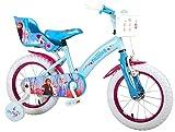 Disney 14 Zoll Mädchenfahrrad Kinderfahrrad Fahrrad Frozen Eiskönigin Bike Rad VOLARE 51461 CH
