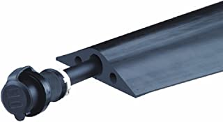 Powerback RFD8-5 Durable Rubber Heavy Duty Single Channel Duct Protector for Cable and Hose Lines up to 1.25