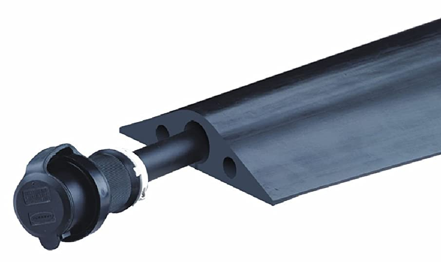 Powerback RFD7-5 Durable Rubber Heavy Duty Single Channel Duct Protector for Cable and Hose Lines up to 1