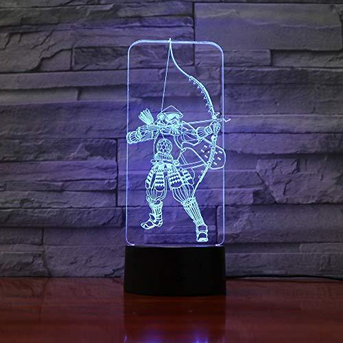 Bowmasters Arrow Ritterlichkeit Nachtlicht 3D LED USB Tischlampe Kinder Geburtstagsgeschenk Nachtzimmer Dekoration