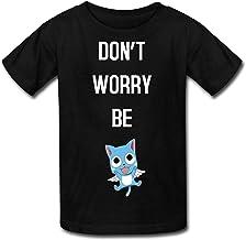 MQW PWlZ Kid's Fairy Tail Anime Crew Neck Shirt Black