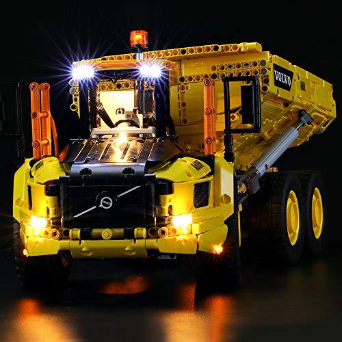 BRIKSMAX Led Beleuchtungsset für Lego Technic Knickgelenkter Volvo-Dumper (6x6),Kompatibel Mit Lego 42114 Bausteinen Modell - Ohne Lego Set