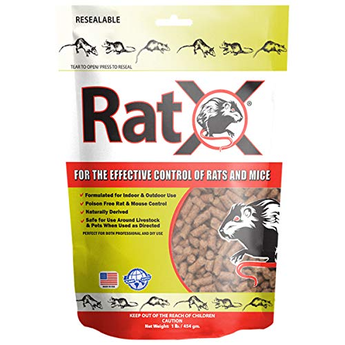EcoClear Products 620100-6D RatX All-Natural Non-Toxic Humane Rat and Mouse Rodenticide Pellets, 8 oz. Bag