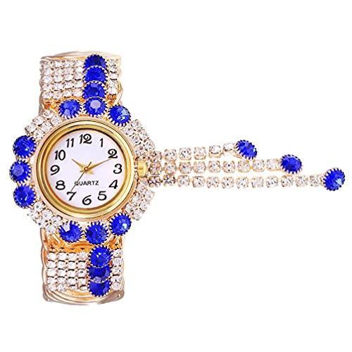 ABOOFAN Reloj de Pulsera de Cuarzo con Diamantes de Imitación para Mujer