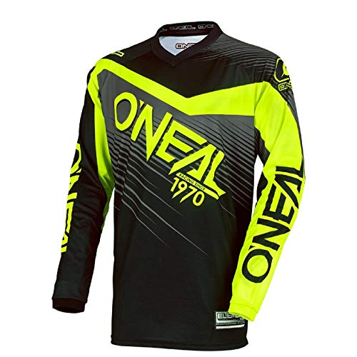 Oneal Element - Maillot Manga Larga Hombre - Racewear Amarillo/Negro Talla L 2018