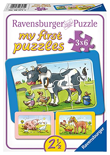 Ravensburger Kinderpuzzle - 06571 Gute Tierfreunde - my first puzzle mit 3x6...