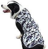 JoyDaog - Sudadera con capucha para perros grandes, forro polar para perros grandes, abrigo de invierno frío impermeable con capucha, color blanco camuflaje XL