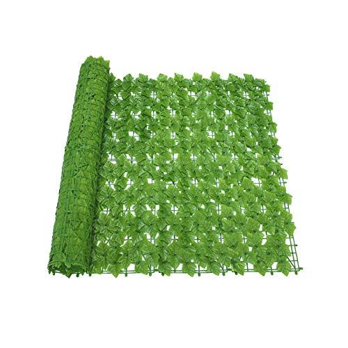 MRlegendary Künstliche Efeu Hecke, Gefälschte Pflanze Hängen Rattan Blatt Zaun Netz Anti-Ultraviolett-Sichtschutz, Balkon Patio Zaun Garten Wanddekoration