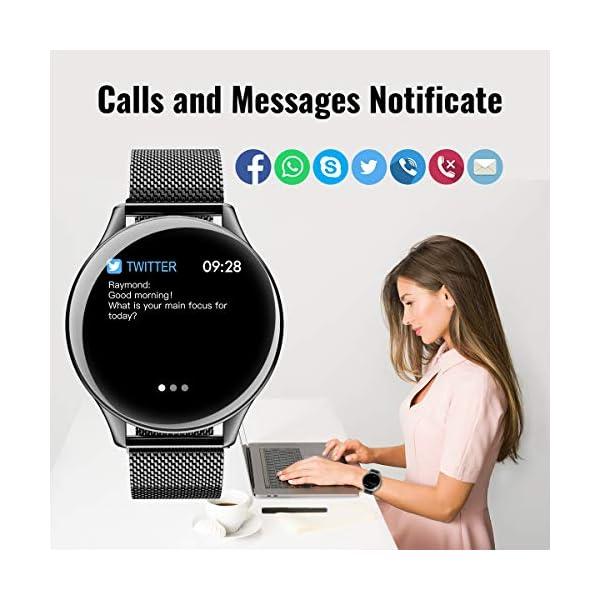 HopoFit Reloj Inteligente para Mujer y Hombre, Smartwatch de Android iOS Phone con monitoreo de frecuencia cardíaca… 3