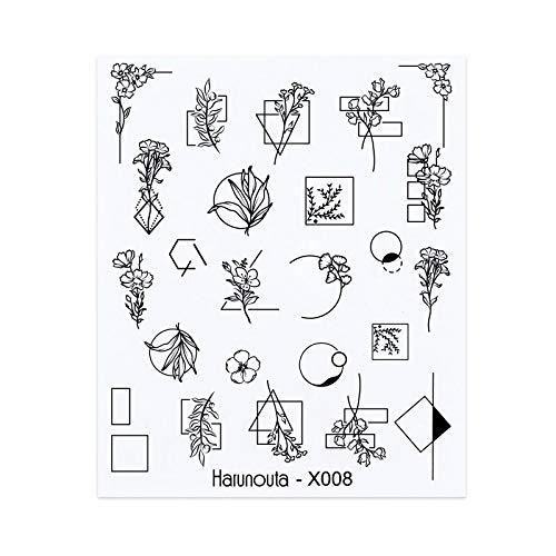 1 Blatt 3D Floral Nail Sticker Klebepflanzen Bunte schöne Blumen Nail Transfer Sticker Decals Nail Art Dekoration