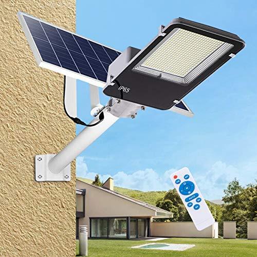 400W 600W 1000WLED Luces de calle solar, atardecer al aire libre a la luz del polo del amanecer con control remoto, impermeable, ideal para estacionamiento, estadio, patio, garaje y jardín,200w