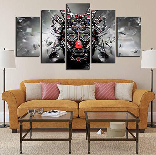 Cuadro de Lienzo Combinación de Piezas Impresiones Sobre Lienzo 5 Panel,decoración Para El Hogar de Pared Para Regalo,Framed Wall Art 40X60Cmx2Pcs 40X80Cmx2Pcs 40X100Cmx1Pcs