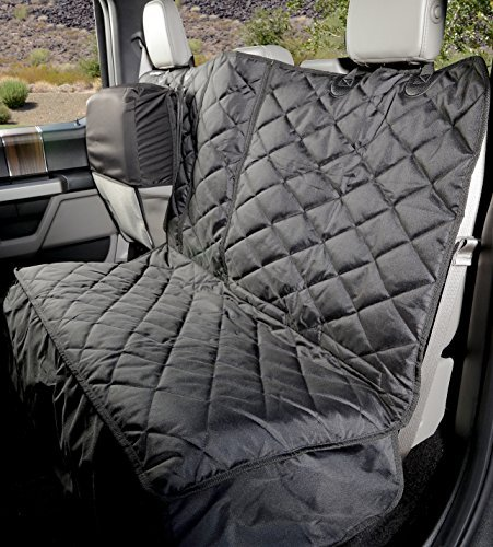 Crew Cab Rear Bench Seat Cover with Hammock - Heavy Duty - Waterproof (Black, Passenger Side)