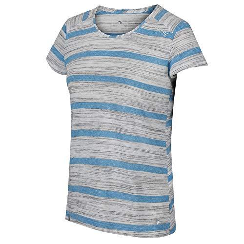 Regatta T-Shirt Technique rayé Manches Courtes Limonite IV léger et Respirant, Bleu (Blue Aster), FR: 46 (Taille fabricant: XXL)